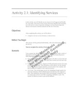 Tài liệu Activity 2.1: Identifying Services doc