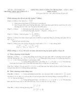 Bài soạn Thi thu dot 1 - 23-1-11- Qluu1- Toan