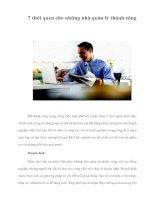 Tài liệu 7 thói quen cho những nhà quản lý thành công ppt