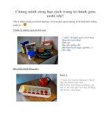 Tài liệu Chúng mình cùng học cách trang trí bánh gato sushi nhé! ppt