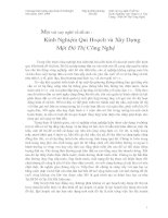 Tài liệu Kinh Nghiệm Quy Hoạch, Xây Dựng Một Đô Thị Công Nghệ và Bài học cho TP. Cần Thơ pdf