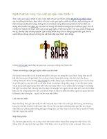 Tài liệu Nghệ thuật bán hàng: Các cuộc gọi ngẫu nhiên (phần 1) ppt