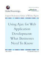 Tài liệu Using Ajax for Web Application Development: What Businesses Need To Know ppt