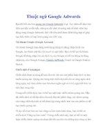 Thuật ngữ Google Adwords