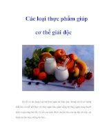 Tài liệu Các loại thực phẩm giúp cơ thể giải độc ppt