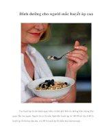 Tài liệu Dinh dưỡng cho người mắc huyết áp cao ppt