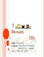 Tìm hiểu về Titanium dioxide TiO2