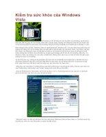 Tài liệu Kiểm tra sức khỏe của Windows Vista pdf