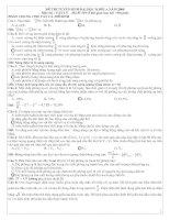 Tài liệu Lời giải chi tiết đề thi ĐH môn lý 2009 docx