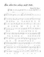 Tài liệu Bài hát em như tia nắng mặt trời - Nguyễn Đức Trung (lời bài hát có nốt) docx