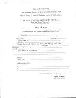 Tài liệu Mẫu đơn đề nghị thanh toán chi phí khám, chữa bệnh tại cơ sở dân y docx