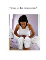 Tài liệu Tại sao lại đau bụng sau ăn? pptx