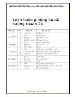 Bài soạn giao an chuan lop 3 tuan 24