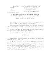 Tài liệu Hệ thống tài khoản kế toán các TCTD'''' Số 479/QĐ-NHNN ppt