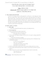 Tài liệu Chuyên đề luyện thi tiếng Anh docx