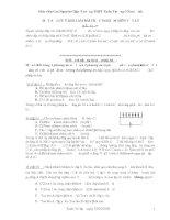 Tài liệu Một số lưu ý khi làm bài trắc nghiệm vật lý-Cao Nguyên Giáp pptx