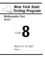 Tài liệu New York State Testing Program- Mathematics Test docx