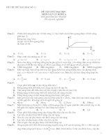 Bài giảng 2 đề tham khảo thi thử Đại học Môn Vật lý  và đáp án
