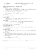 Tài liệu Đề thi tuyển sinh Đại học, cao đẳng môn Toán - Đề số 6 ppt