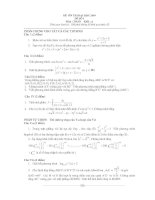 Tài liệu Đề ôn thi đại học môn Toán khối A 2009 - Đề 1 (Có đáp án) ppt