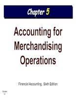 ACCOUNTING FOR MERCHANDISING OPERATIONS  handout