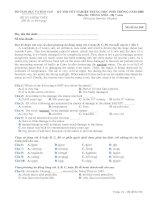 Tài liệu ĐỀ THI TỐT NGHIỆP TRUNG HỌC PHỔ THÔNG NĂM 2008 MÔN TIẾNG ANH - Hệ 7 năm pdf