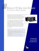 Tài liệu SONEPLEX E1 QUAD LOOP EXTENDER docx