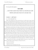 Bài soạn SKKN-Phat hien va tranh sai lam trong can bac hai