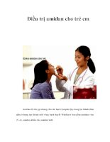 Tài liệu Điều trị amidan cho trẻ em doc