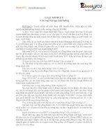 Các loại bài tập tình huống LUẬT KINH T Ế