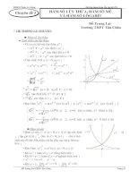 Tài liệu Chuyên đề 3: PT Mũ và logarit (Ôn thi TN THPT năm 2011)