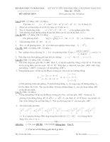 Tài liệu Đề thi ĐH môn Toán khối A 2002 docx