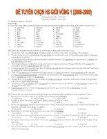 Tài liệu Đề thi HSG vòng 1 Tiếng Anh 12 (2008-2009) doc