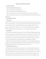 Bài soạn Kế hoạch Sinh học 7