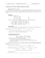 Tài liệu Giải toán bằng phương pháp quy đổi ppt
