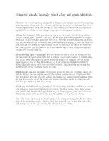 Tài liệu Làm thế nào để làm việc thành công với người khó tính. pdf