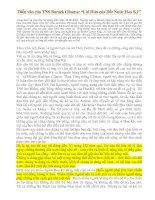 """Tài liệu Diễn văn của TNS Barack Obama: """"Lời Hứa của Đất Nước Hoa Kỳ"""" pdf"""