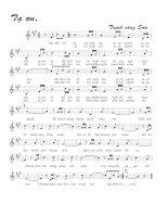 Tài liệu Bài hát tạ ơn - Trịnh Công Sơn (lời bài hát có nốt) pptx