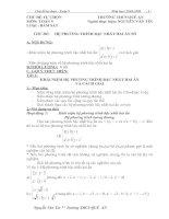 Bài giảng chuyên đề hệ phương trình bậc nhất hai ẩn