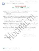 Tài liệu Các bài toán tính khoảng cách (Bài tập và hướng dẫn giải) pdf