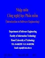 Tài liệu Nhập môn công nghệ học phần mềm - Introduction to Software Engineering pptx