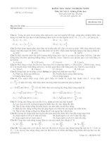 Tài liệu Bộ đề ôn thi tốt nghiệp phân ban môn lý đề 1 pdf