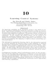 Tài liệu An Introduction to Intelligent and Autonomous Control-Chapter 10: Learning Control Systems pdf