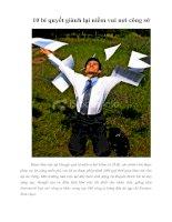 Tài liệu 10 bí quyết giành lại niềm vui nơi công sở pdf