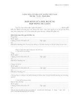 Tài liệu Mẫu mẫu hợp đồng mua bán (sửa đổi, bổ sung) doc