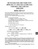 đề thi và đáp án giải toán vật lý trên máy tính casio