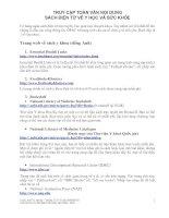 Danh mục toàn bộ sách điện tử về y học
