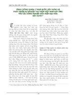 Tài liệu TĂNG CƯỜNG QUẢN LÝ NHÀ NƯỚC XÂY DỰNG & PHÁT TRIỂN SỰ NGHIỆP THƯ VIỆN VIỆT NAM ĐÁP ỨNG YÊU CẦU CÔNG NGHIỆP HÓA HIỆN ĐẠI HÓA pdf