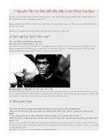 7 Nguyên Tắc Cơ Bản Để Sắp Xếp Cuộc Sống Của Bạn