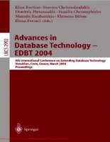 Tài liệu Advances in Database Technology- P1 pptx